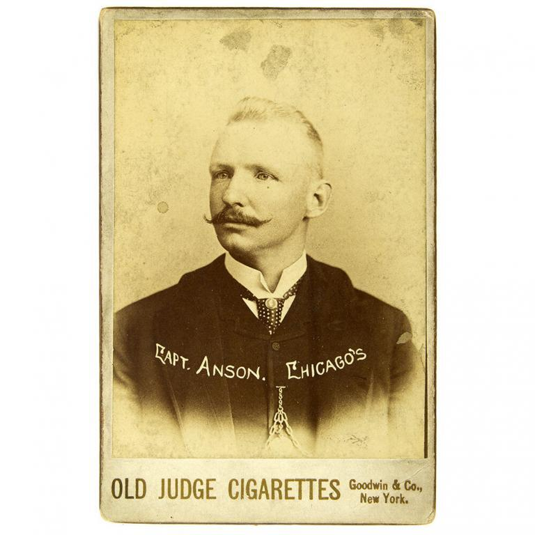"Old Judge Cigarettes ""Capt. Anson"" Photograph Baseball Player Card"