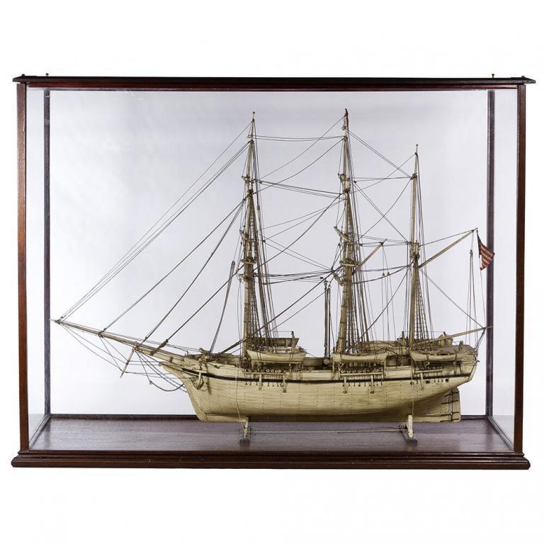 Whale Bone Ship Model