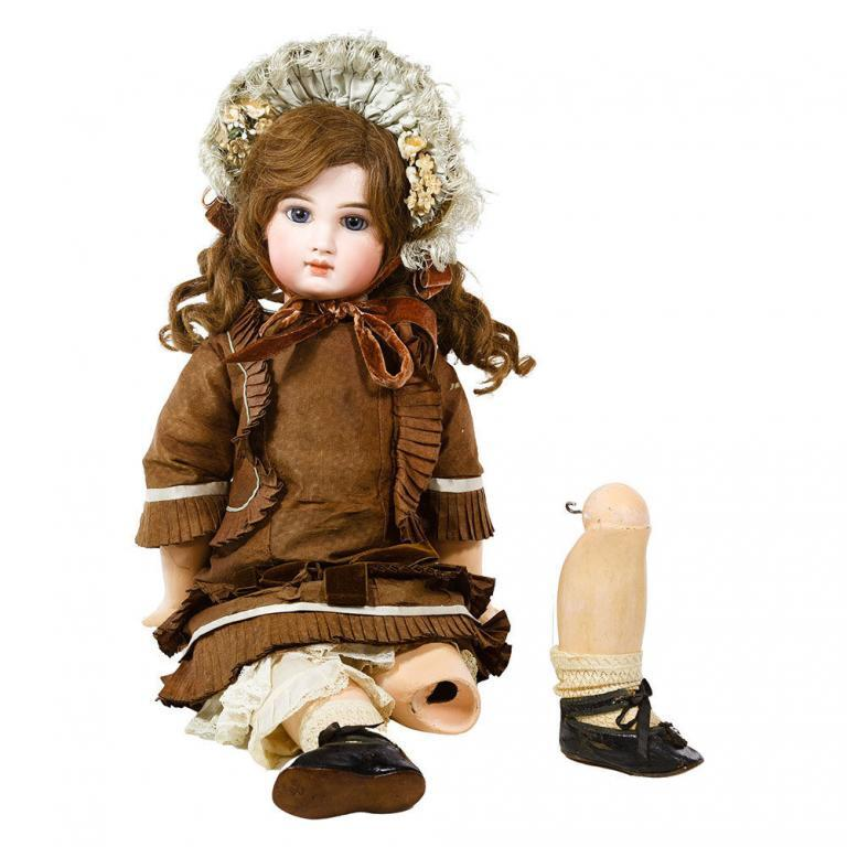Incised Jumeau Depose Bebe French Bisque Doll