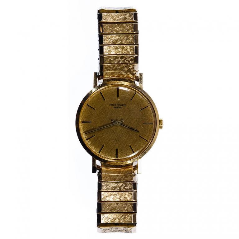 "Patek Philippe ""Calatrava"" 18k Gold Case Wrist Watch"