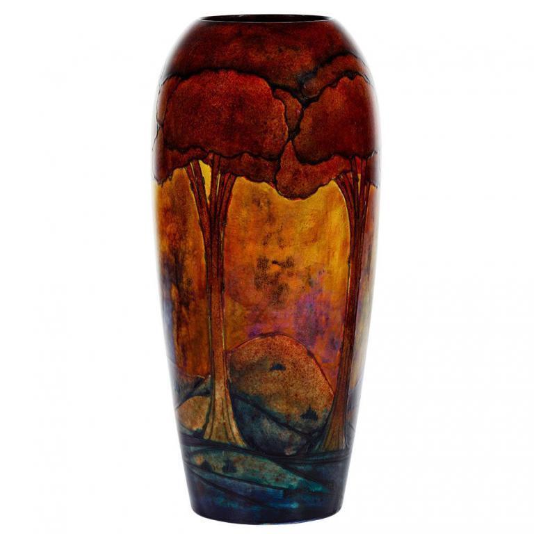 """William Moorcroft """"Eventide"""" Vase"""