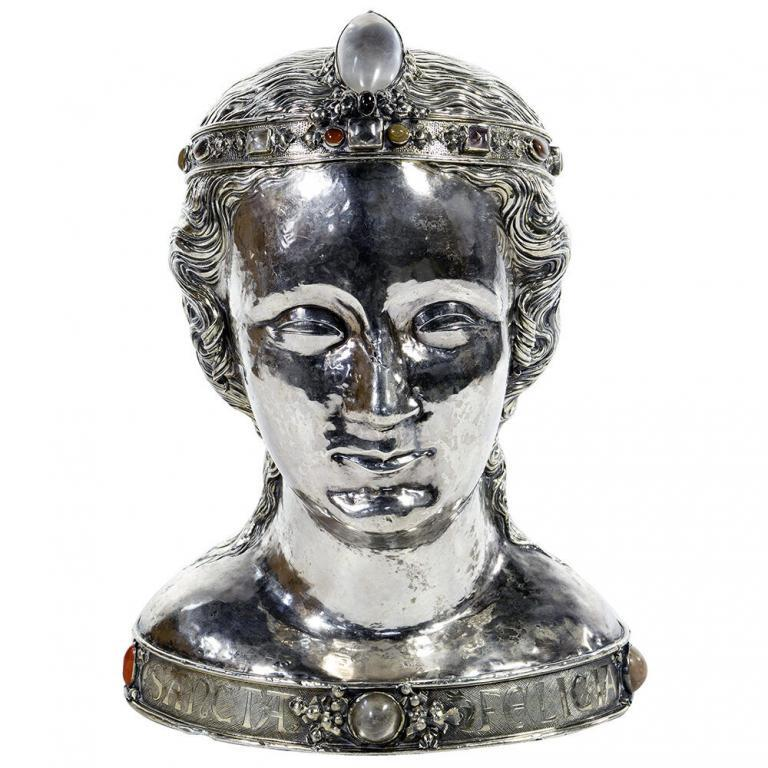 Continental Silver St. Felicia Reliquary Bust