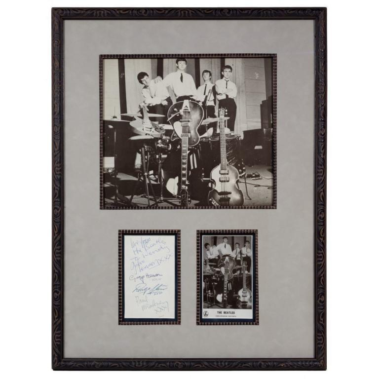The Beatles Group Autograph