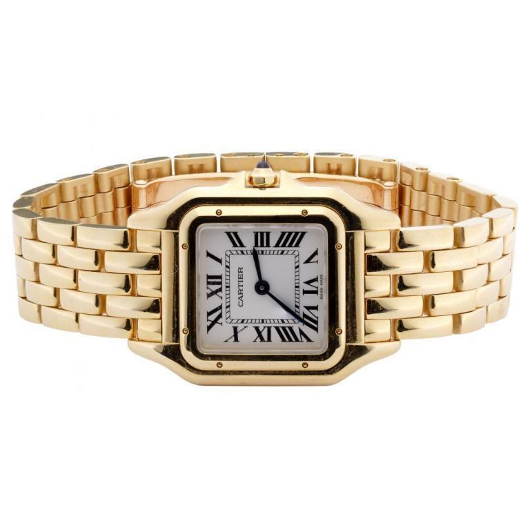"Cartier 18k Yellow Gold Case and Band ""Panthere de Cartier"" Wrist Watch"