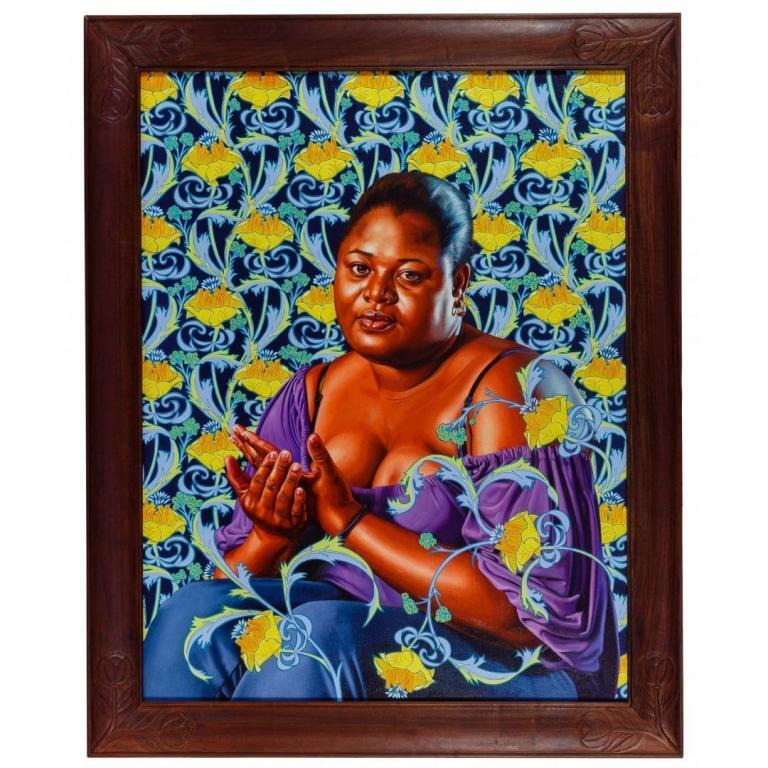 """Kehinde Wiley (American, b.1977) """"Psyche Abandoned"""" Oil on Linen"""