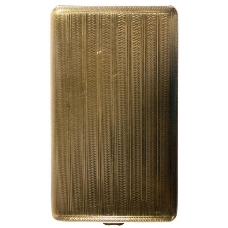 British 18k Gold Cigarette Case by E.S. & Co