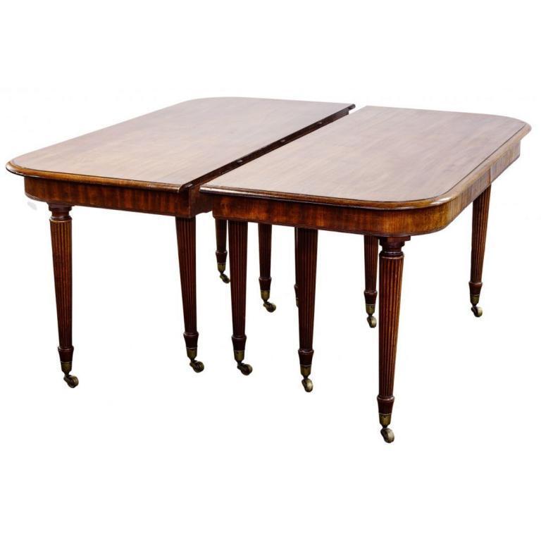 Sheraton Style Mahogany Dining Table