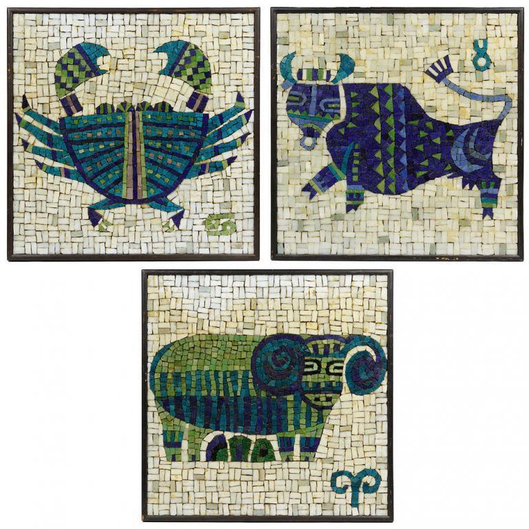 Evelyn Ackerman for ERA Industries Zodiac Mosaics