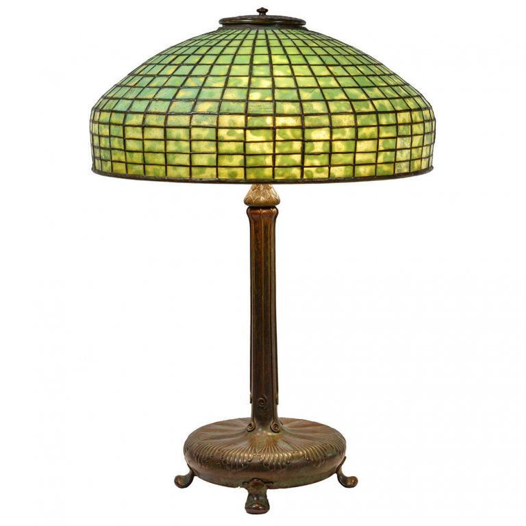 Leaded Glass Lamp Attributed to Tiffany