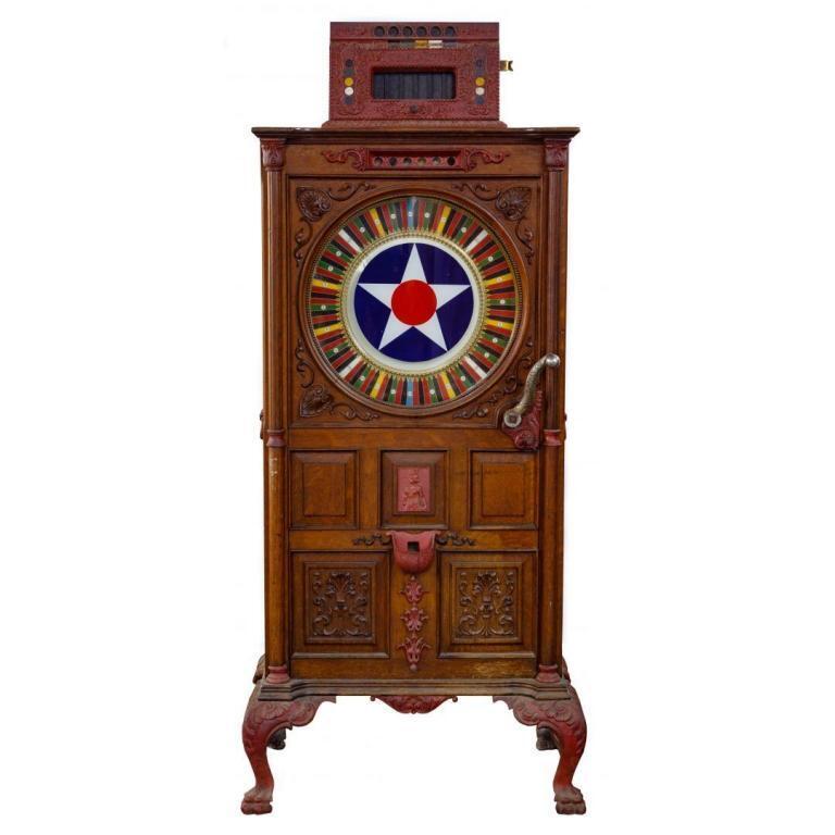 Chicago Upright Floor Wheel Coin-Op Slot Machine
