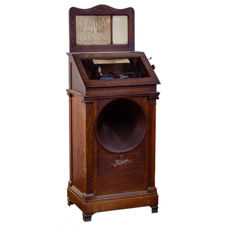"""Regina Hexaphone Model 103 """"Jukebox"""" Phonograph"""