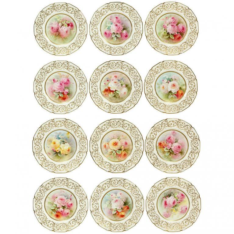 Royal Doulton Hand-Painted Cabinet Plates