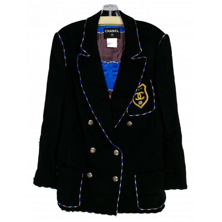 Coco Chanel Badge Wool Blazer