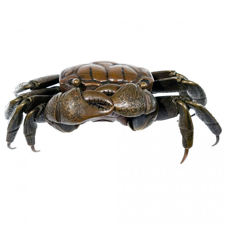 JAPANESE BRONZE ARTICULATED CRAB