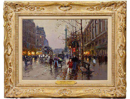 Edouard Cortes Oil on Canvas