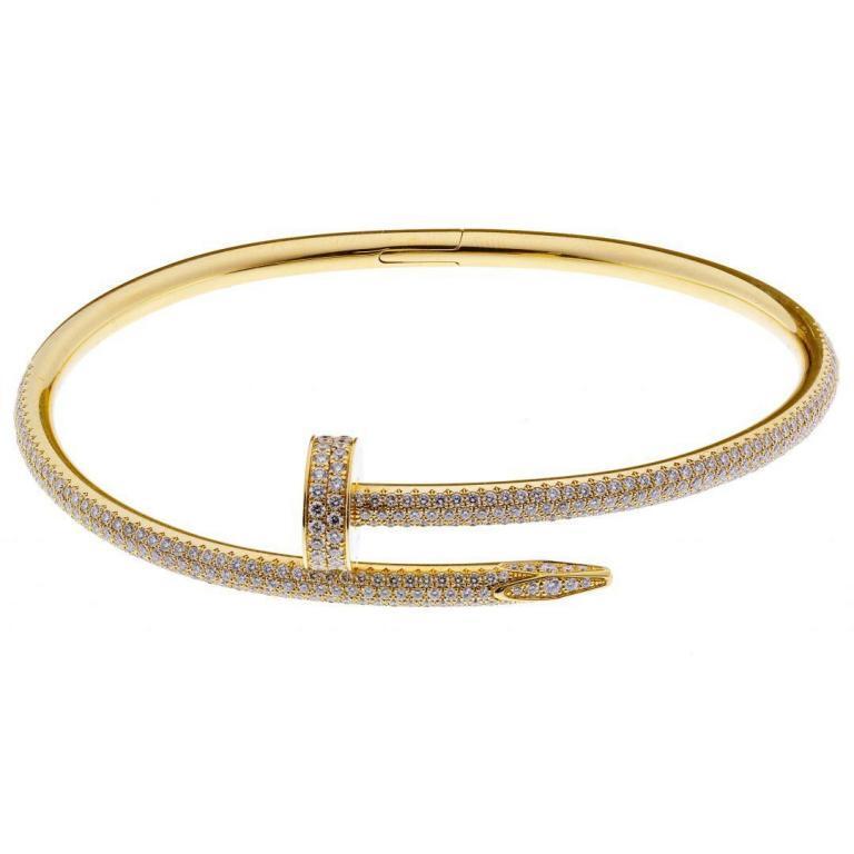 Cartier 18k Yellow Gold and Diamond Juste un Clou Bracelet