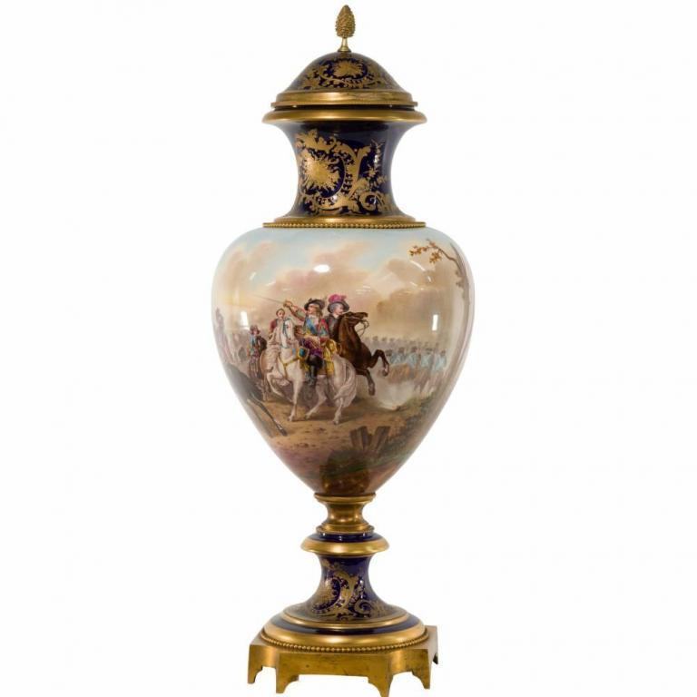Sevres Style Porcelain and Ormolu Urn